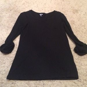 Splendid Tops - Splendid black 3/4 tee with pocket size small