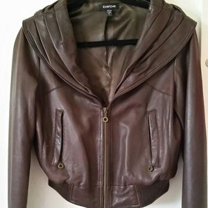 Bebe genuine leather jacket!