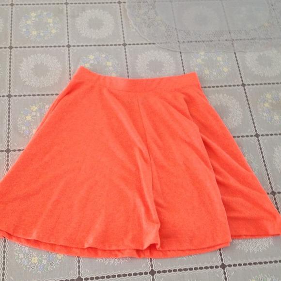 53 off topshop dresses amp skirts neon orange circle