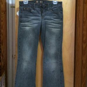 Lei dark wash flare jean