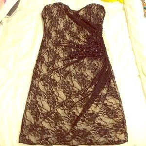 Sexy lace mini dress for New Years Eve!