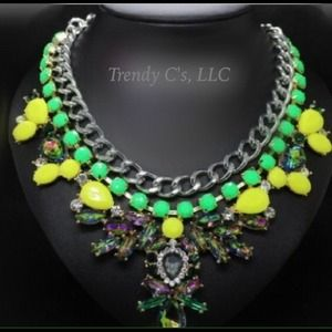 Neon statement necklace