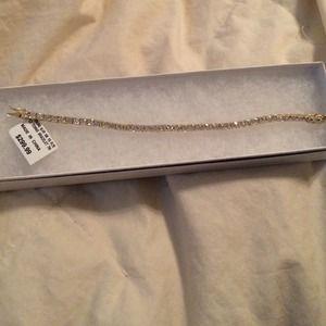 Nwt sterling silver 18k gold plate tennis bracelet