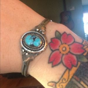 Jewelry - Antique Navajo sterling and turquoise bracelet