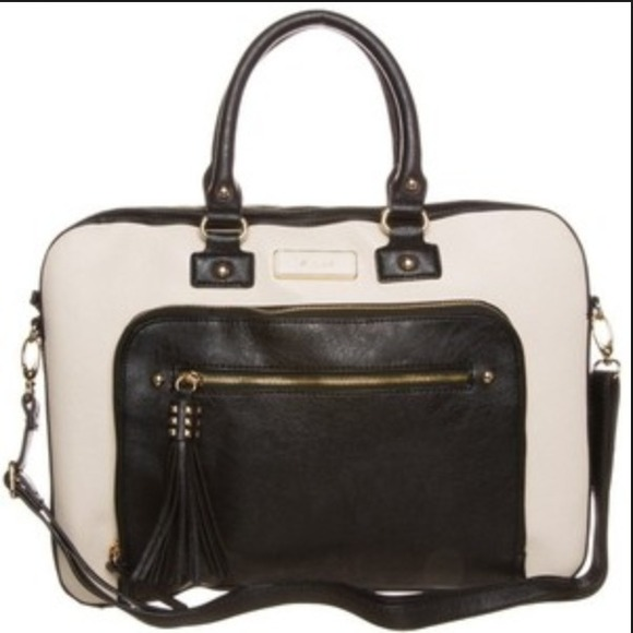 58% off ALDO Handbags - ALDO Parker's Black and Beige Laptop Bag ...