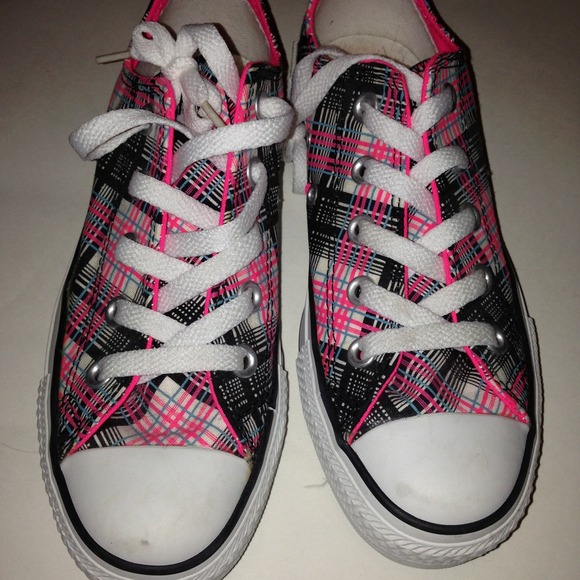 Pink Plaid Converse Sneakers   Poshmark