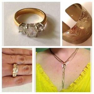 Gold-tone jewelry bundle