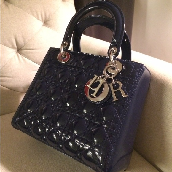 c41c792c0af Dior Bags | Authentic Lady Bag Patent Shanghai Blue | Poshmark