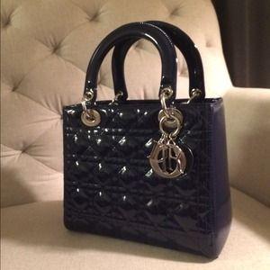 ef72b71a2452 Dior Bags - Authentic Lady Dior Bag- Patent Shanghai Blue