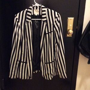 silence + noise Jackets & Blazers - Urban Outfitters Striped Oversized Blazer