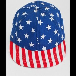 American Apparel Accessories - American Apparel American Flag SnapBack