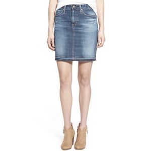 Cute Denim Mini Skirt blue jean sz 14
