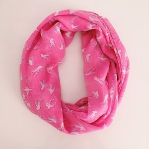 Zara Accessories - Zara bird print pink scarf