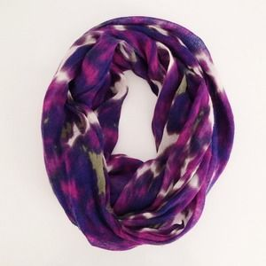 J. Crew Accessories - J.Crew purple floral print scarf