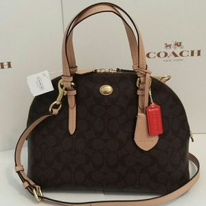 Flash Sale New Coach Peyton domed leather satchel