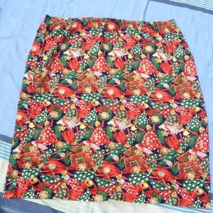 Vintage skirt bright light weight fabric size 24