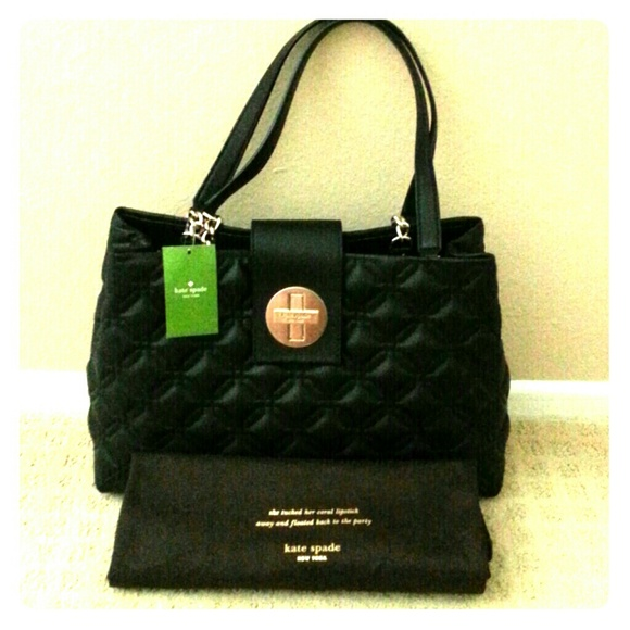 30% off kate spade Handbags - Kate Spade Black Quilted Leather ...
