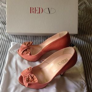 Valentino Shoes - Red Valentino pink bow pumps