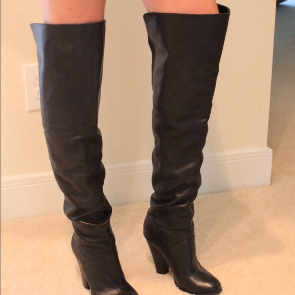 61% off ALDO Boots - ALDO over knee black leather boots*reduced ...