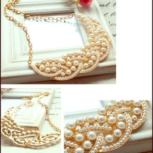 Bib Collar Gold Necklace