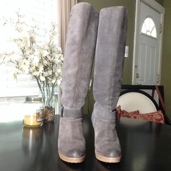 57% off Talbots Boots - ✖️SOLD✖ Grey Suede Tall Boots from ...
