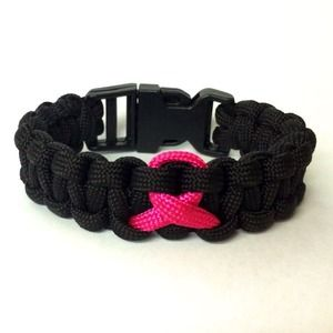 Jewelry - Women's Breast Cancer Awareness Paracord Bracelet