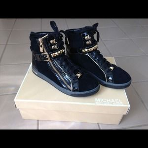 Michael Kors Glam Studded High Top Black
