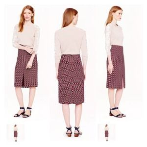 J. Crew Soft Printed Pencil Skirt