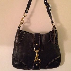 Authentic genuine leather coach bag✅SALE!