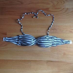 Zebra Printed Swim Top