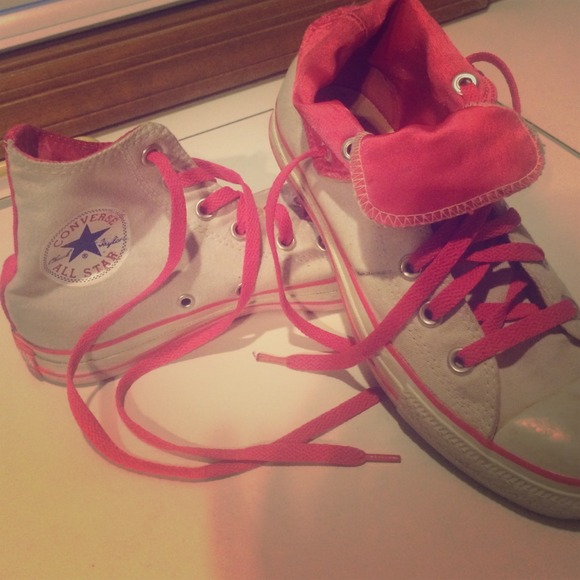 Hot Pink Converse Tennis Shoes