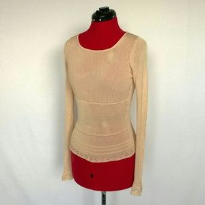 BCBGMaxAzria Knit Long-Sleeved Top