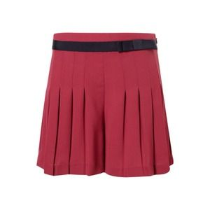 Topshop Fuscia Grosgrain Waistband Pleated Shorts