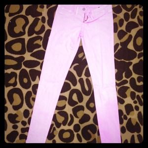 "Baby pink ""flying monkey"" skinny jeans size 5."