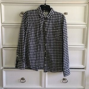 J. Crew Tops - J.Crew black and white boy shirt