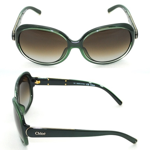 24082cd707bd green oversized Chloe sunglasses
