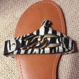 Xhilaration zebra sandals