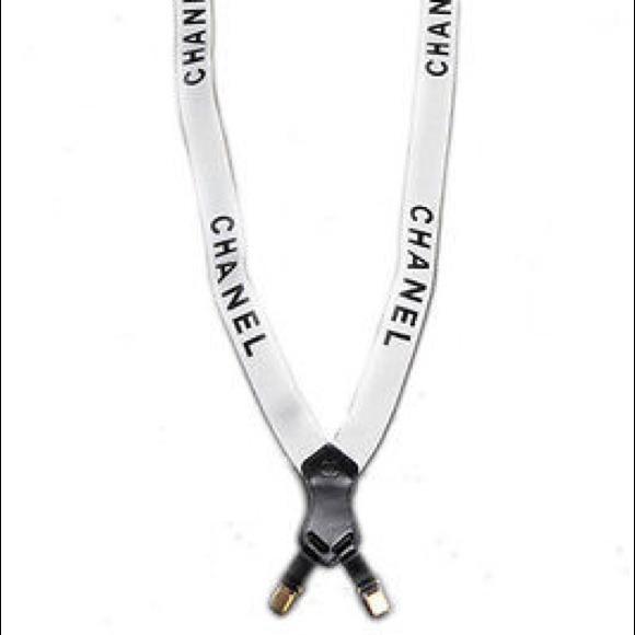 chanel suspenders. chanel accessories - white chanel logo suspenders lady gaga \u0026 rihanna