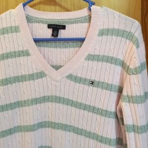 Tommy Hilfiger cableknit sweater light pink