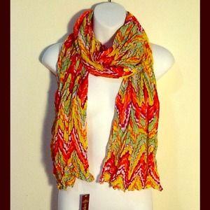 BRAND NEW Copper Key bright chevron summer scarf!