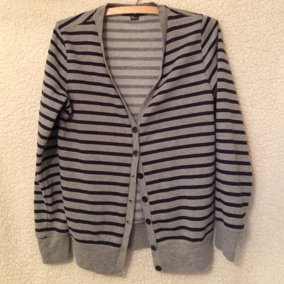 33% off Forever 21 Sweaters - M Navy blue and grey striped ...
