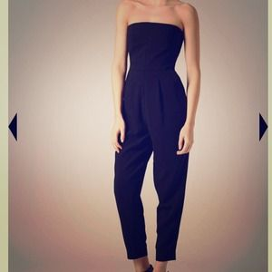 Topshop Tailored Bandeau Jumpsuit Size 8