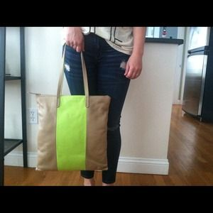 Gap bold stripe leather bag