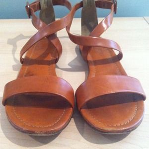 J.Crew leather ankle strap sandals