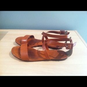 J. Crew Shoes - J.Crew leather ankle strap sandals