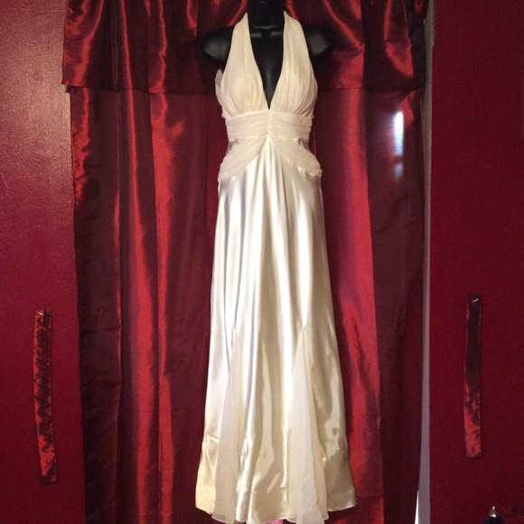 Dresses | Cream Colored Evening Gown | Poshmark