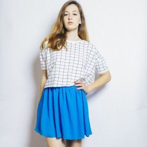 American Apparel Dresses & Skirts - Blue Chiffon Mini Skirt