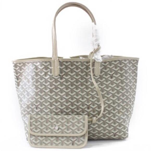 92 Off Handbags Goyard St Louis Style Gm Size Beige