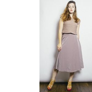 American Apparel Dresses & Skirts - Khaki mid length skirt
