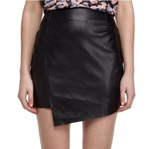 new asymmetric black skirt